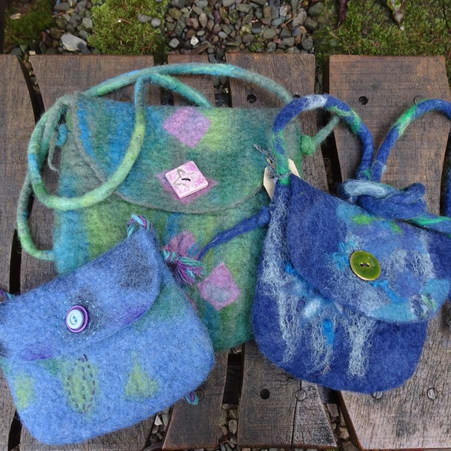 Hand Felted Shoulder Bag