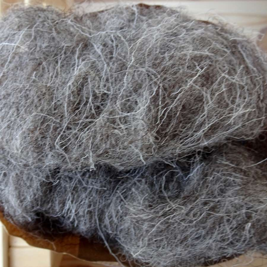 Naturally Coloured, Scoured & Carded Fleece (100g)