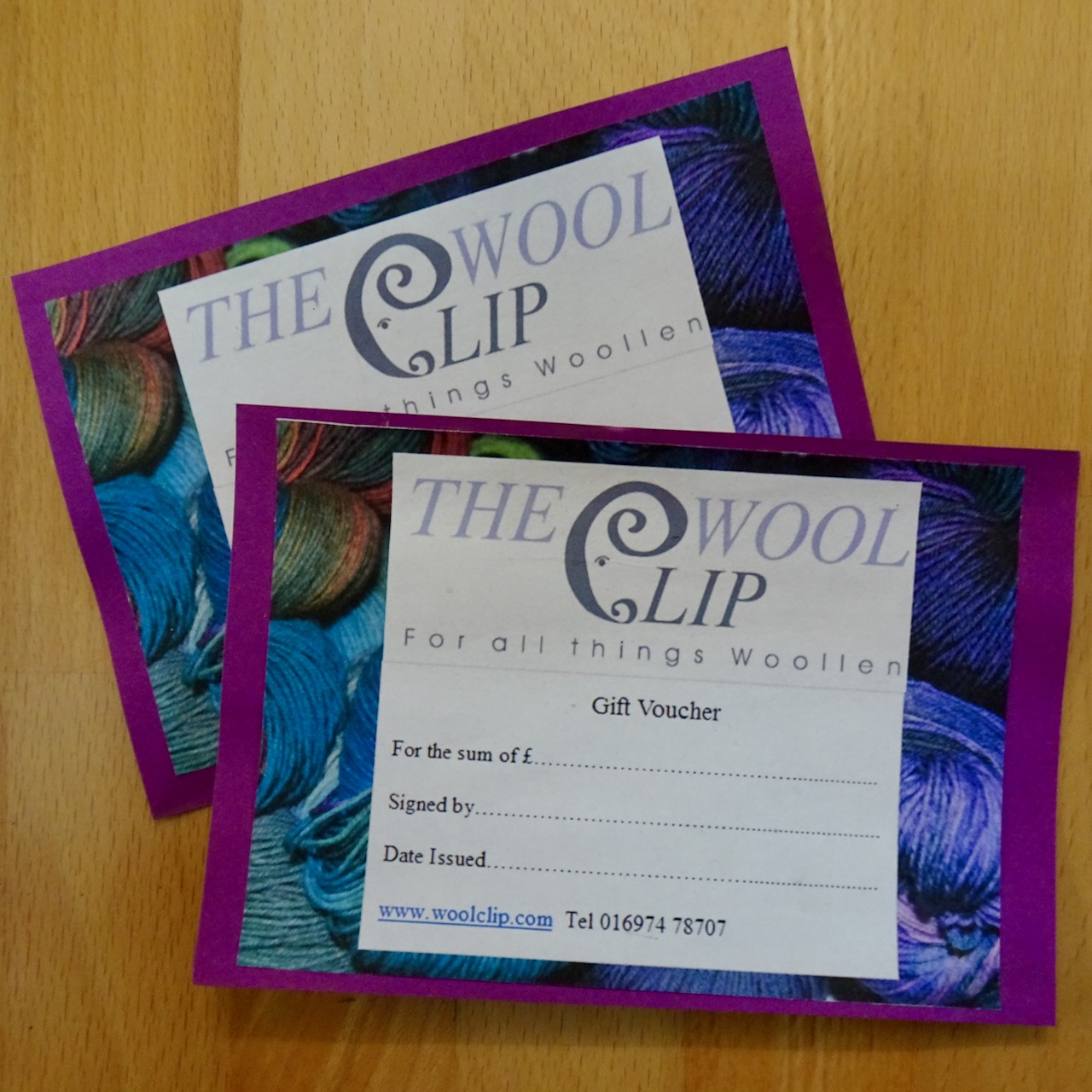 Gift Vouchers - For Use in Our Shop