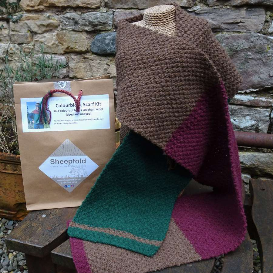Colourblock Scarf Knitting Kit