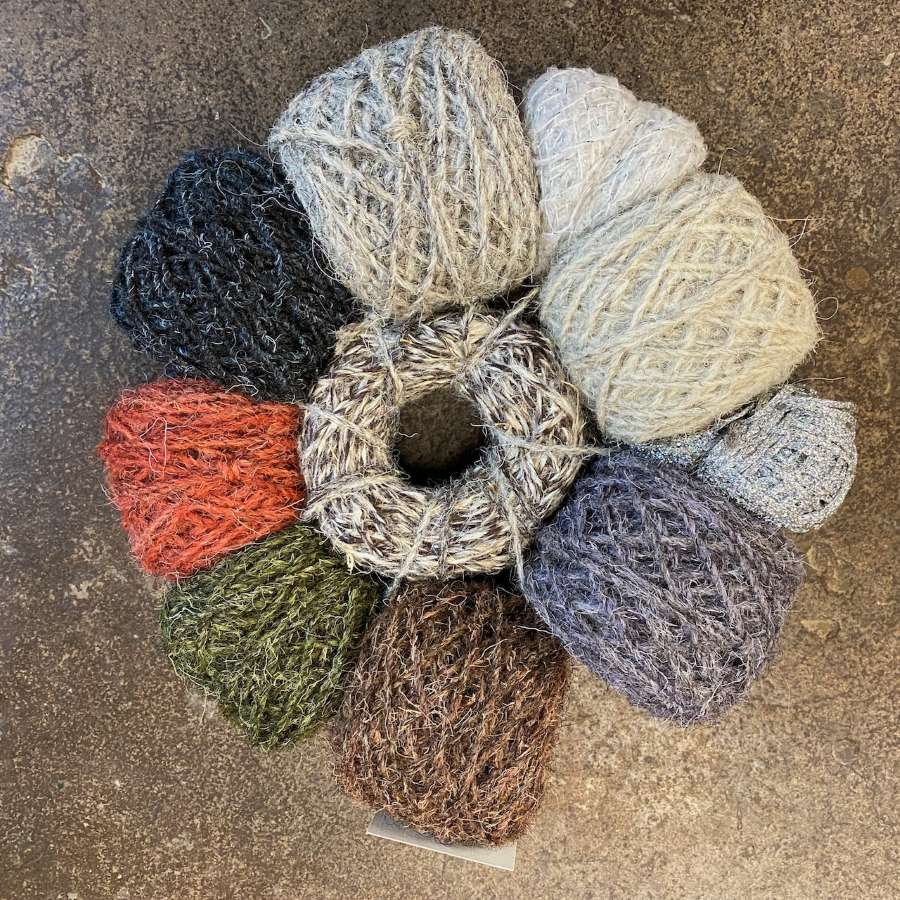 Rug Wool: Winter Hedgerow